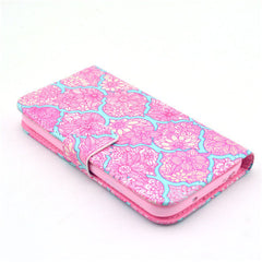 Pink lace Stand Leather Case For Samsung S4 - BoardwalkBuy - 3