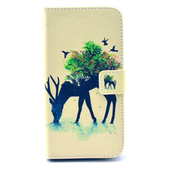 Reindeer Stand Leather Case For Samsung S5 - BoardwalkBuy - 1