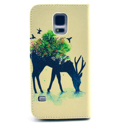 Reindeer Stand Leather Case For Samsung S5 - BoardwalkBuy - 3