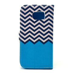Blue Waves Stand Leather Case For iPhone and Samsung - BoardwalkBuy - 4