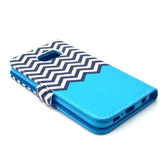 Blue Waves Stand Leather Case For iPhone and Samsung - BoardwalkBuy - 2