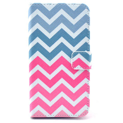 Pink waves Stand Leather Case For Samsung S5 - BoardwalkBuy - 1