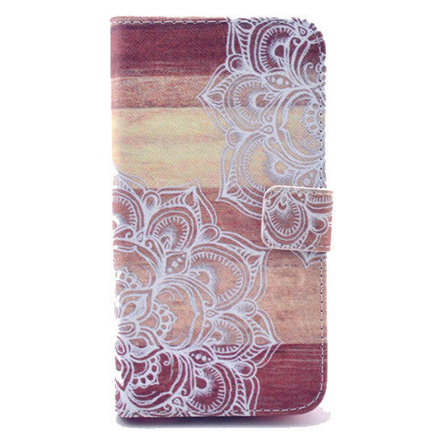 Lace Stand Leather Case For Samsung S5