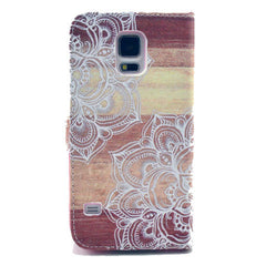Lace Stand Leather Case For Samsung S5 - BoardwalkBuy - 3