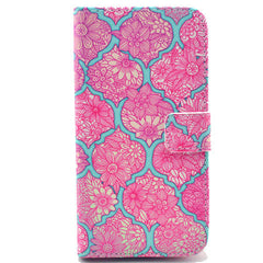 Pink lace Stand Leather Case For Samsung S5 - BoardwalkBuy - 1