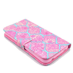 Pink lace Stand Leather Case For Samsung S5 - BoardwalkBuy - 4