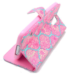 Pink lace Stand Leather Case For Samsung S5 - BoardwalkBuy - 2
