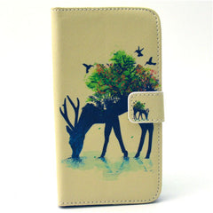 Reindeer Stand Leather Case For Samsung S6 Edge - BoardwalkBuy - 1