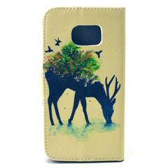 Reindeer Stand Leather Case For Samsung S6 Edge - BoardwalkBuy - 4