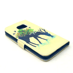Reindeer Stand Leather Case For Samsung S6 Edge - BoardwalkBuy - 2