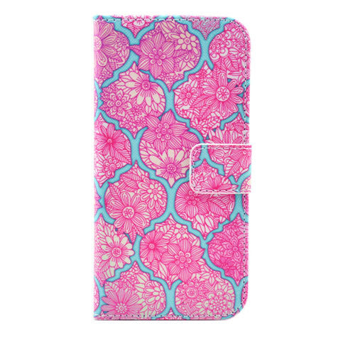 "Flower Leather Stand Case for iPhone 6 4.7"" - BoardwalkBuy - 1"