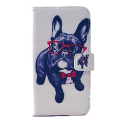 Glasses Dog Stand Leather Case For Samsung S6 Edge - BoardwalkBuy - 1