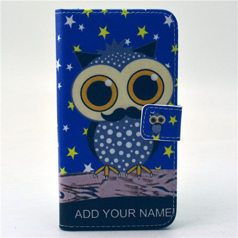 Owl Stand Leather Case For Samsung S6 - BoardwalkBuy - 1