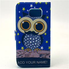Owl Stand Leather Case For Samsung S6 - BoardwalkBuy - 4