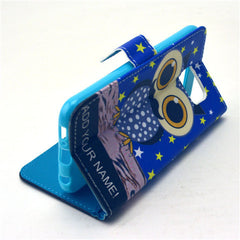 Owl Stand Leather Case For Samsung S6 - BoardwalkBuy - 3