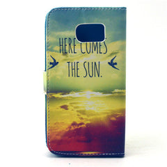 Sunrise Stand Leather Case For Samsung S6 - BoardwalkBuy - 4