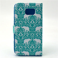 Green Eleplant Stand Leather Case For Samsung S6 - BoardwalkBuy - 4