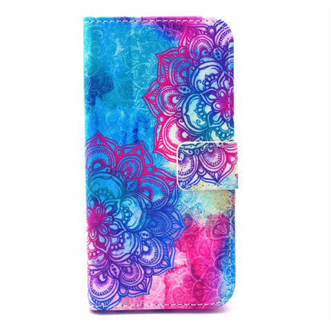 Flower Leather Wallet Case For Iphone 6 4.7