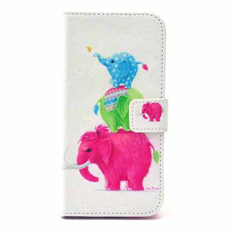 Elephants Leather Case for iPhone 6 4.7 - BoardwalkBuy - 1