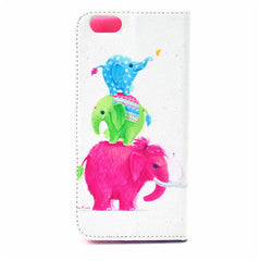 Elephants Leather Case for iPhone 6 Plus - BoardwalkBuy - 2
