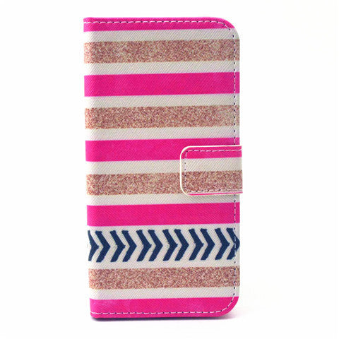 Stripe Pattern Leather Case for iPhone 6 4.7 - BoardwalkBuy - 1