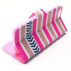 Stripe Pattern Leather Case for iPhone 6 Plus - BoardwalkBuy - 3