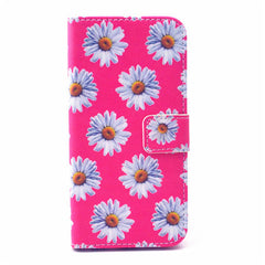 Daisy Painted Leather Case for iPhone 6 Plus - BoardwalkBuy - 1