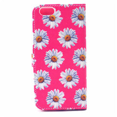 Daisy Painted Leather Case for iPhone 6 Plus - BoardwalkBuy - 2