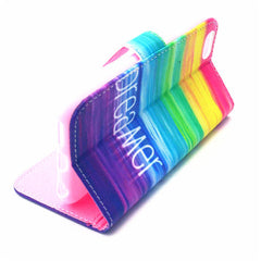 Rainbow Leather Case for iPhone 6 Plus - BoardwalkBuy - 3