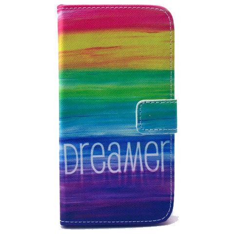 Colorful dream Stand Leather Case For Samsung S5