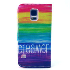 Colorful dream Stand Leather Case For Samsung S5 - BoardwalkBuy - 3