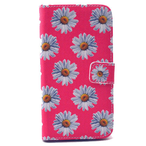 Chrysanthemum Stand Leather Case For Samsung S5