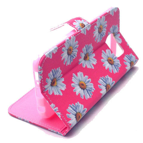Chrysanthemum Stand Leather Case For Samsung S6