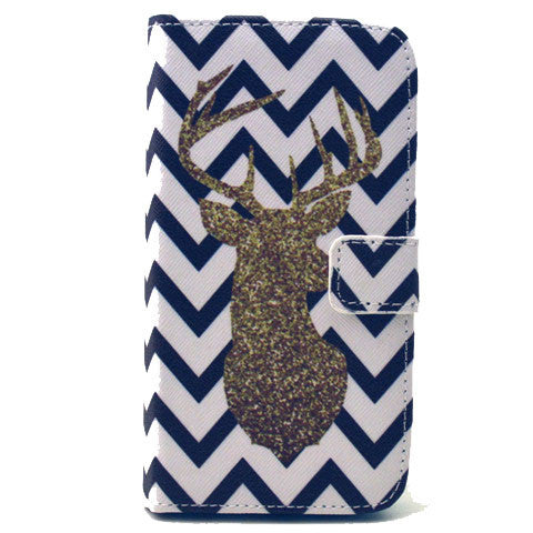 The waves deer Stand Leather Case For Samsung S6 - BoardwalkBuy - 1