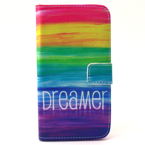 Colorful Dream Stand Leather Case For Samsung S6
