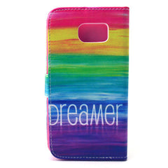 Colorful dream Stand Leather Case For Samsung S6 - BoardwalkBuy - 3