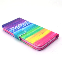 Colorful dream Stand Leather Case For Samsung S6 - BoardwalkBuy - 4