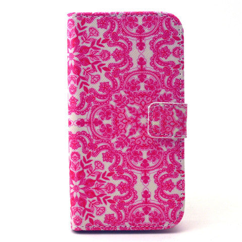 Pink Snow Stand Leather Case For Samsung S4 - BoardwalkBuy - 1