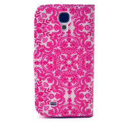 Pink Snow Stand Leather Case For Samsung S4 - BoardwalkBuy - 3