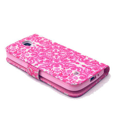 Pink Snow Stand Leather Case For Samsung S4 - BoardwalkBuy - 4
