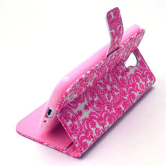 Pink Snow Stand Leather Case For Samsung S4 - BoardwalkBuy - 2