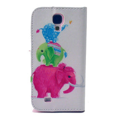 Naughty elephants  Stand Leather Case For Samsung S4 - BoardwalkBuy - 3