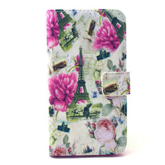 Flower Tower Stand Leather Case For Samsung S6 Edge - BoardwalkBuy - 1