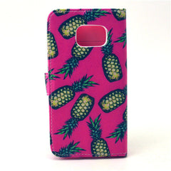 Pineapple Stand Leather Case For Samsung S6 Edge - BoardwalkBuy - 4