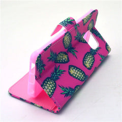 Pineapple Stand Leather Case For Samsung S6 Edge - BoardwalkBuy - 3
