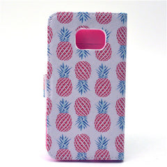 White Pineapple Stand Leather Case For Samsung S6 Edge - BoardwalkBuy - 4