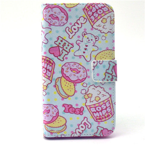 Cookies Stand Leather Case For Samsung S6 Edge