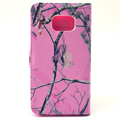 Pink Tree Stand Leather Case For Samsung S6 Edge - BoardwalkBuy - 4