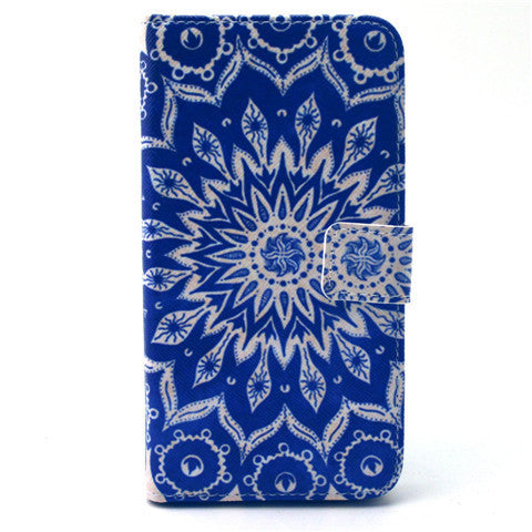 Sunflower Stand Leather Case For Samsung S6 Edge - BoardwalkBuy - 1