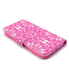 Pink flower Stand Leather Case For Samsung S6 - BoardwalkBuy - 4